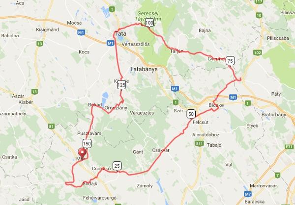 magyarország térkép mór I. Vértes + Gerecse Maraton magyarország térkép mór